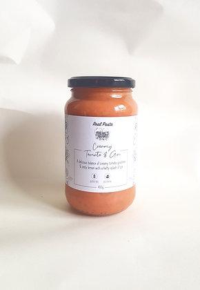 Creamy Tomato & Gin Pasta Sauce