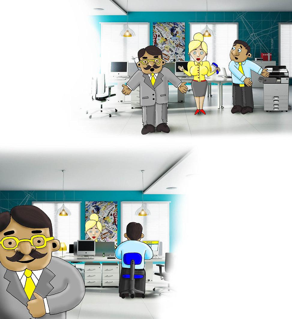 Рабочий день в офисе