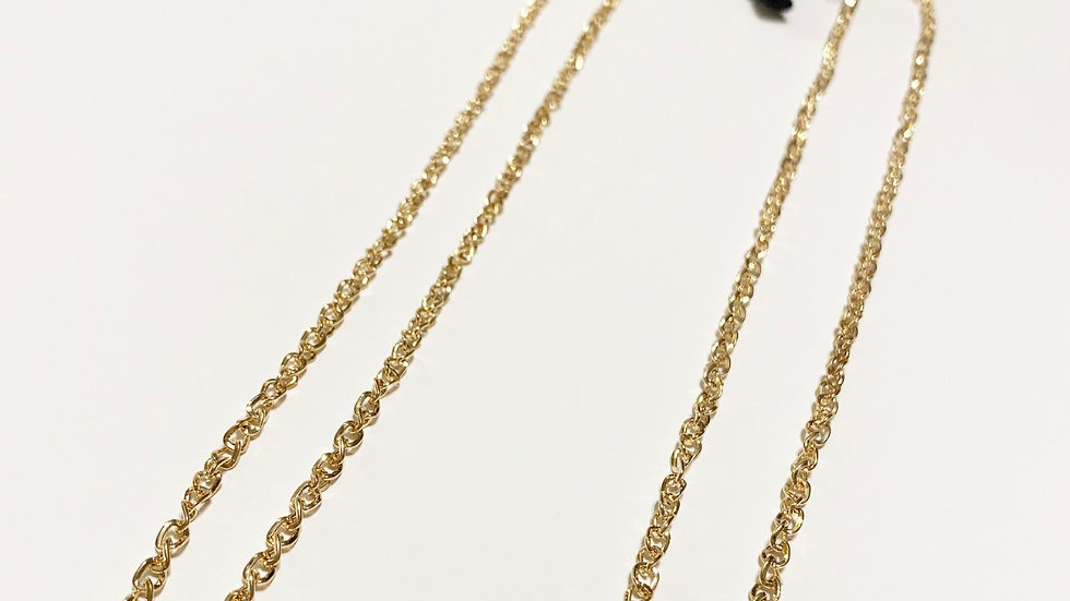 18k gold plated mask chain