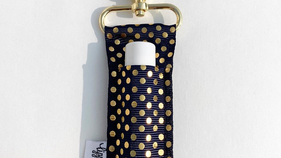 Navy Gold Dots LippyClip Lip Balm Holder
