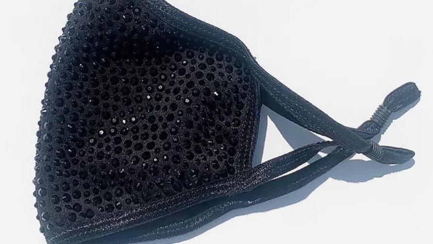 Black Crystal Glam Mask