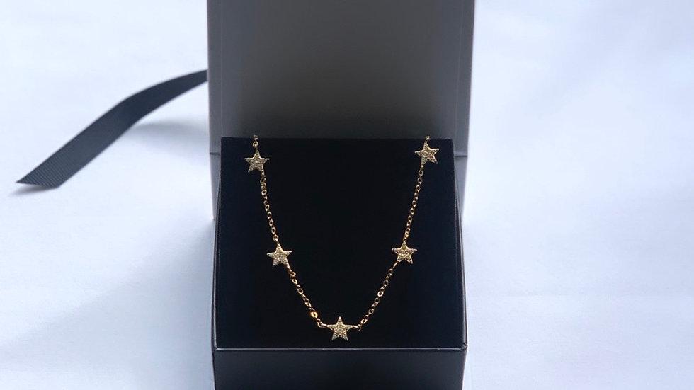 Cubic Zirconia 18k gold Star Choker