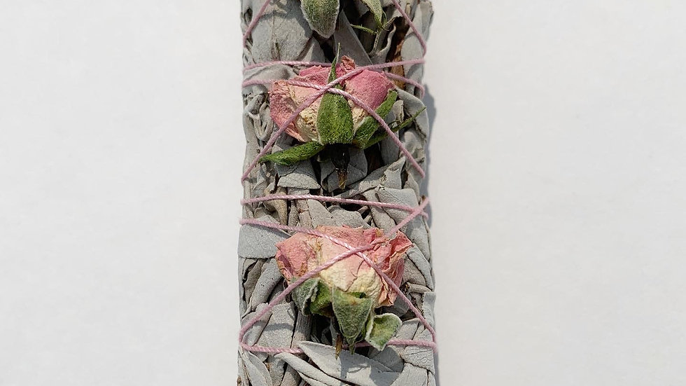 White Sage and Rose Buds- Pink