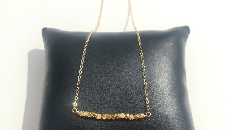 Mixed Metal Layering Necklace, Gold Fill.