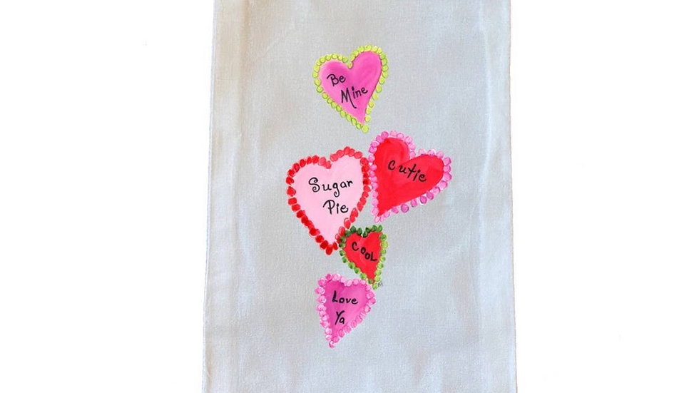 Heart Wine Bag. 100% Cotton