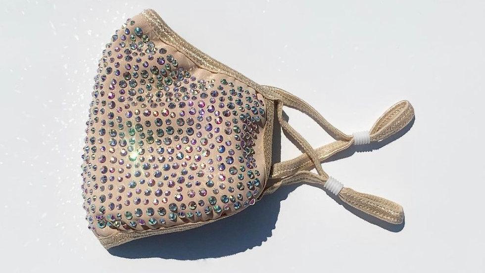 Nude Crystal Glam Mask