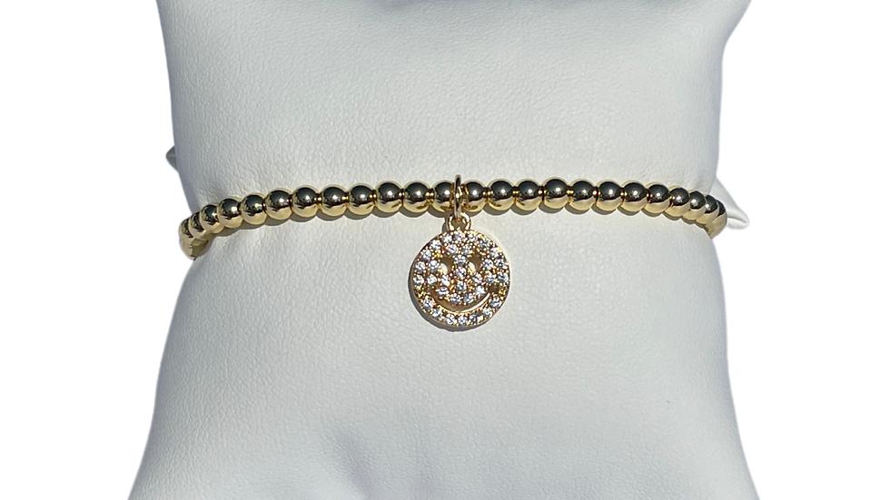 Smiley Glam Bracelet In Gold