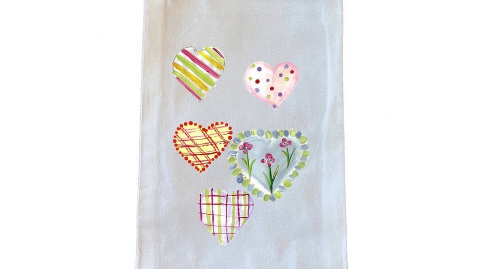 All Occasion Heart Wine Bag. 100% Cotton