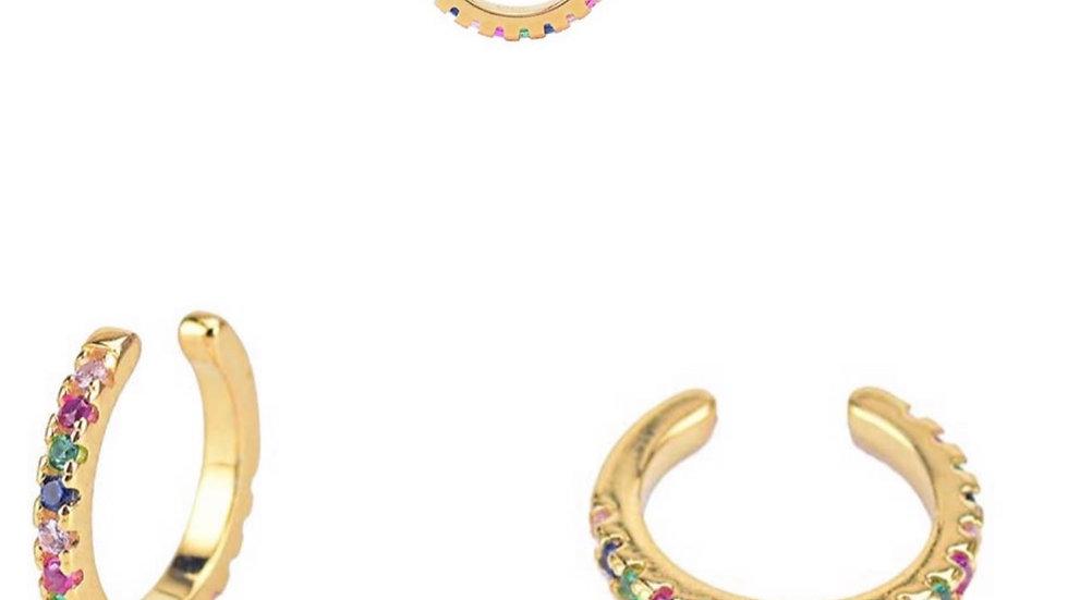 Gold Rainbow Ear Cuff