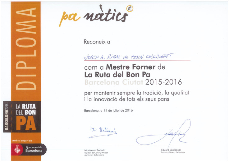 RUTA DEL BON PA BARCELONA 2015-2016