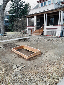 view of cold frame in front
