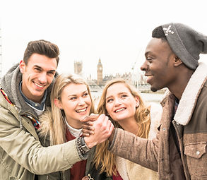 Group of Happy Multiracial Best Hipster