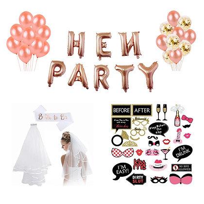 Hen Party Balloon Air Pump Confetti Latex Ballon Decoration Set
