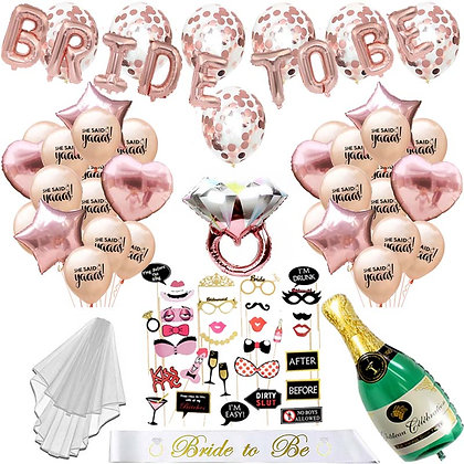 Bride To Be Sash Decorations Kit