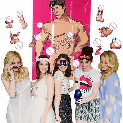 Bachelorette Party Games Poster with Stickers