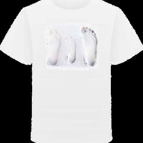 BUY NOW White T-shirt with 'Plenty' feet logo
