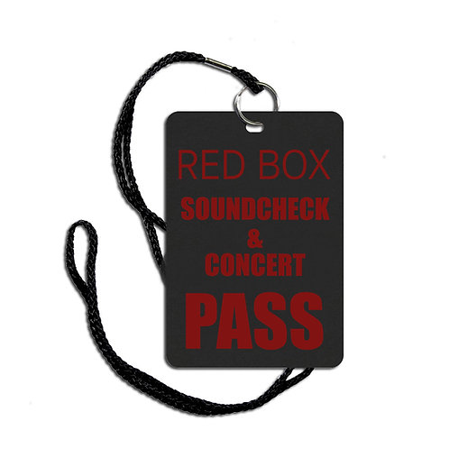 PRE-ORDER Soundcheck & Concert Pass for one