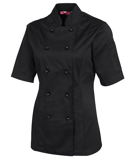 LADIES CHEF'S JACKET SHORT SLEEVE