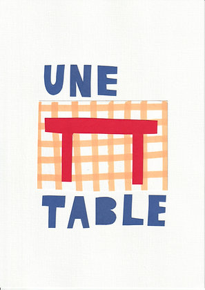 collage : une table