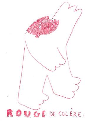 dessin : rouge de colère