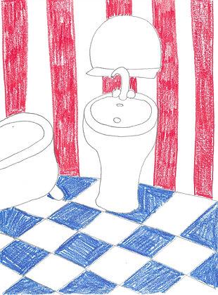 dessin : la salle de bain