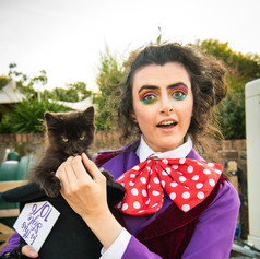 The Mad Hatter met a Curious Kitten!