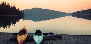 Kayaks on the dock