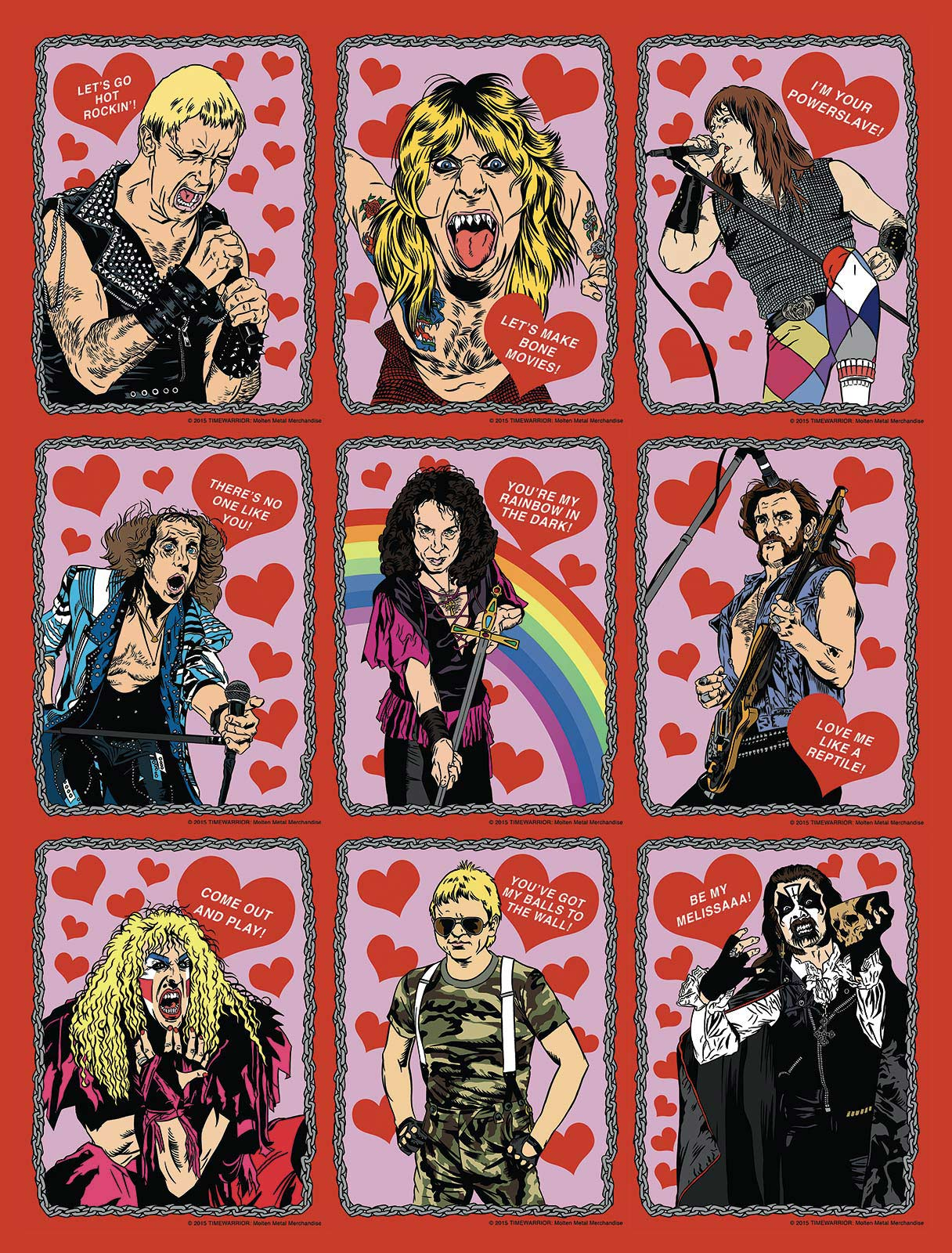 Heavy Metal Valentine's Day Cards
