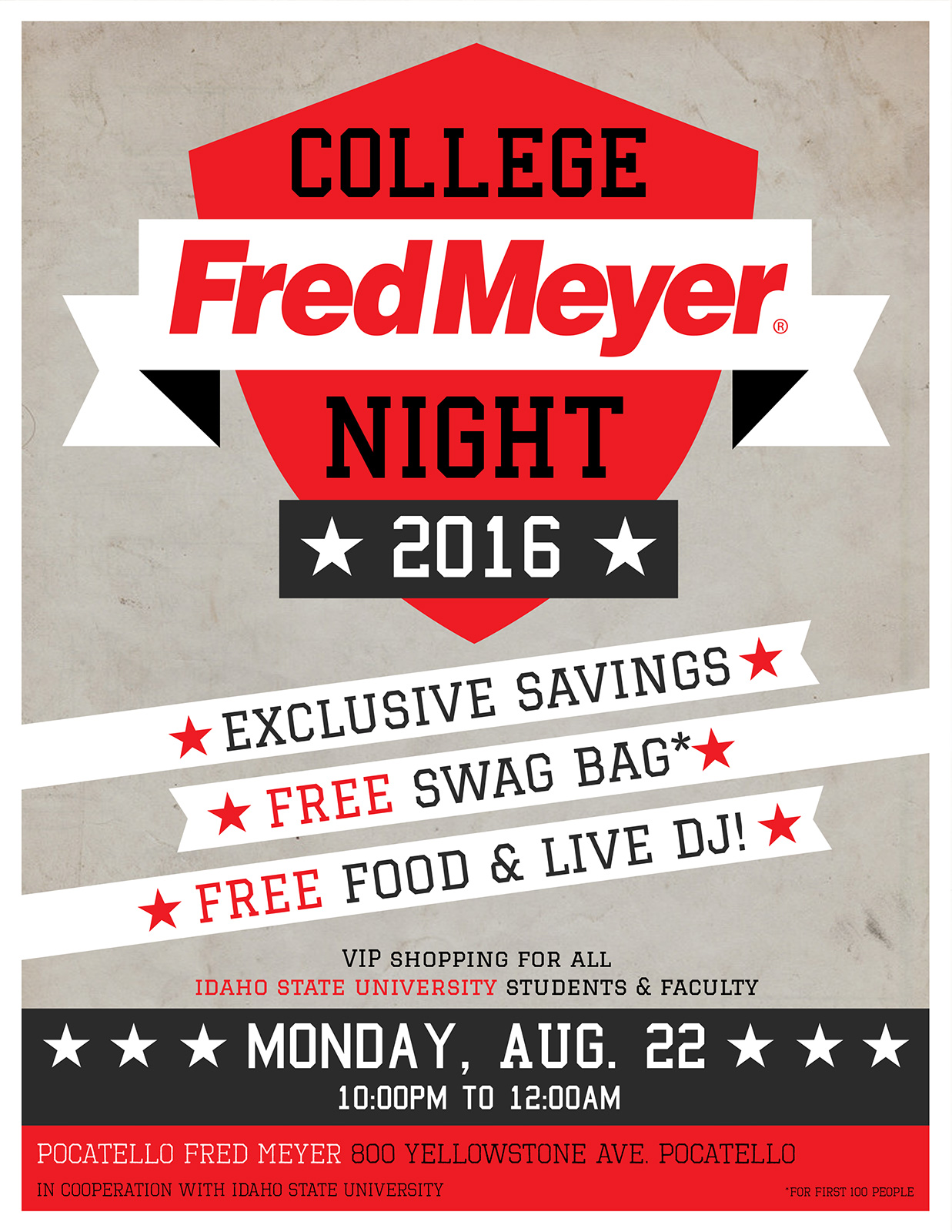 Fred Meyer College Night Campaign
