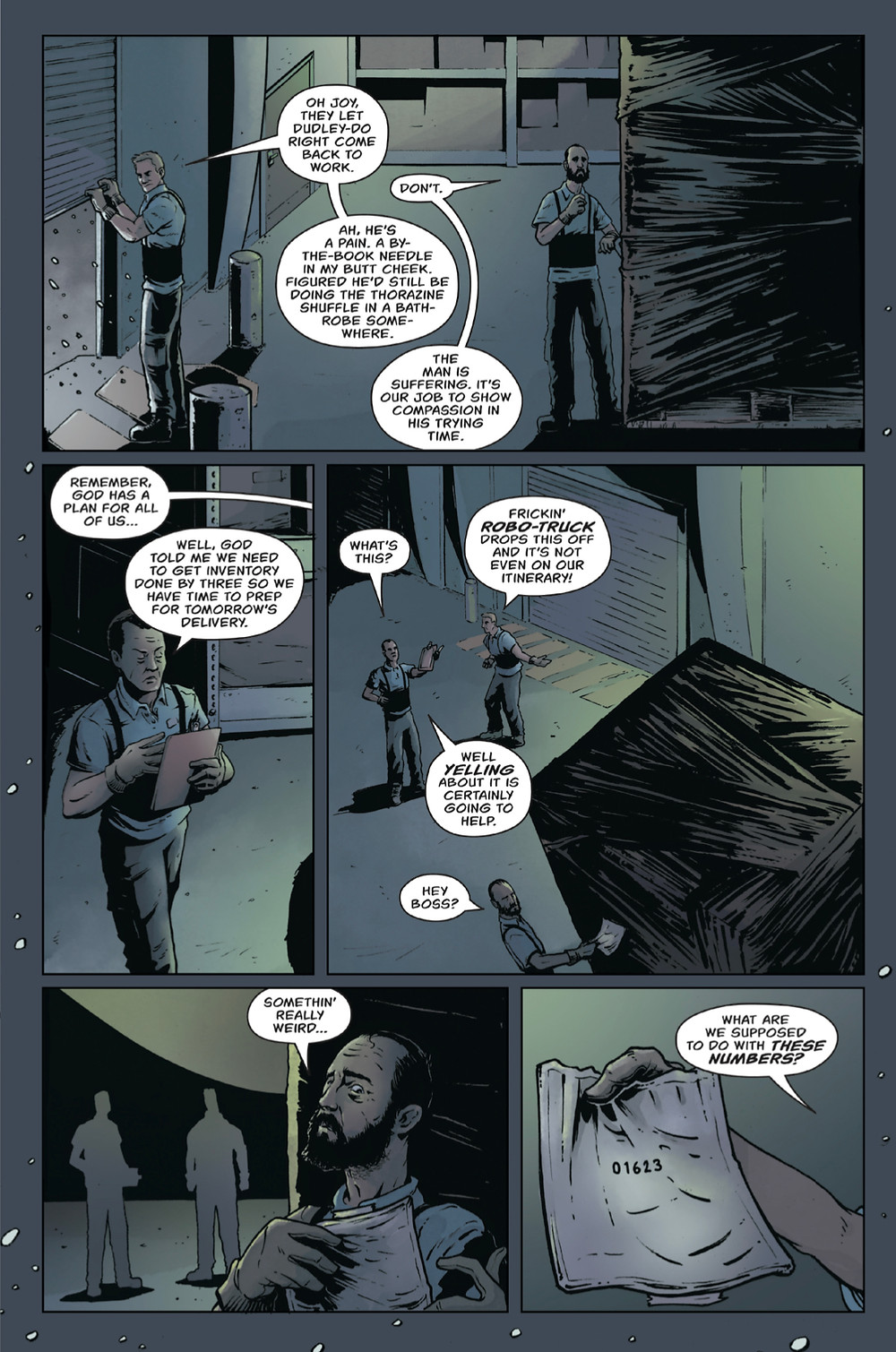 Tomb of the White Horse, issue #1, page 5, self-published, Mondrick/Filby