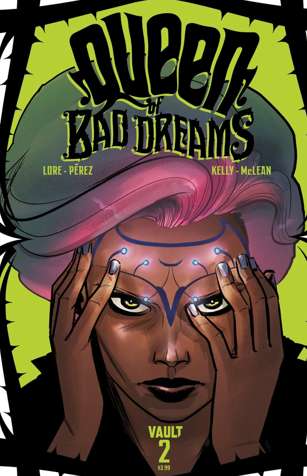 Queen of Bad Dreams, issue #2, cover, Vault Comics, Lore/Pérez