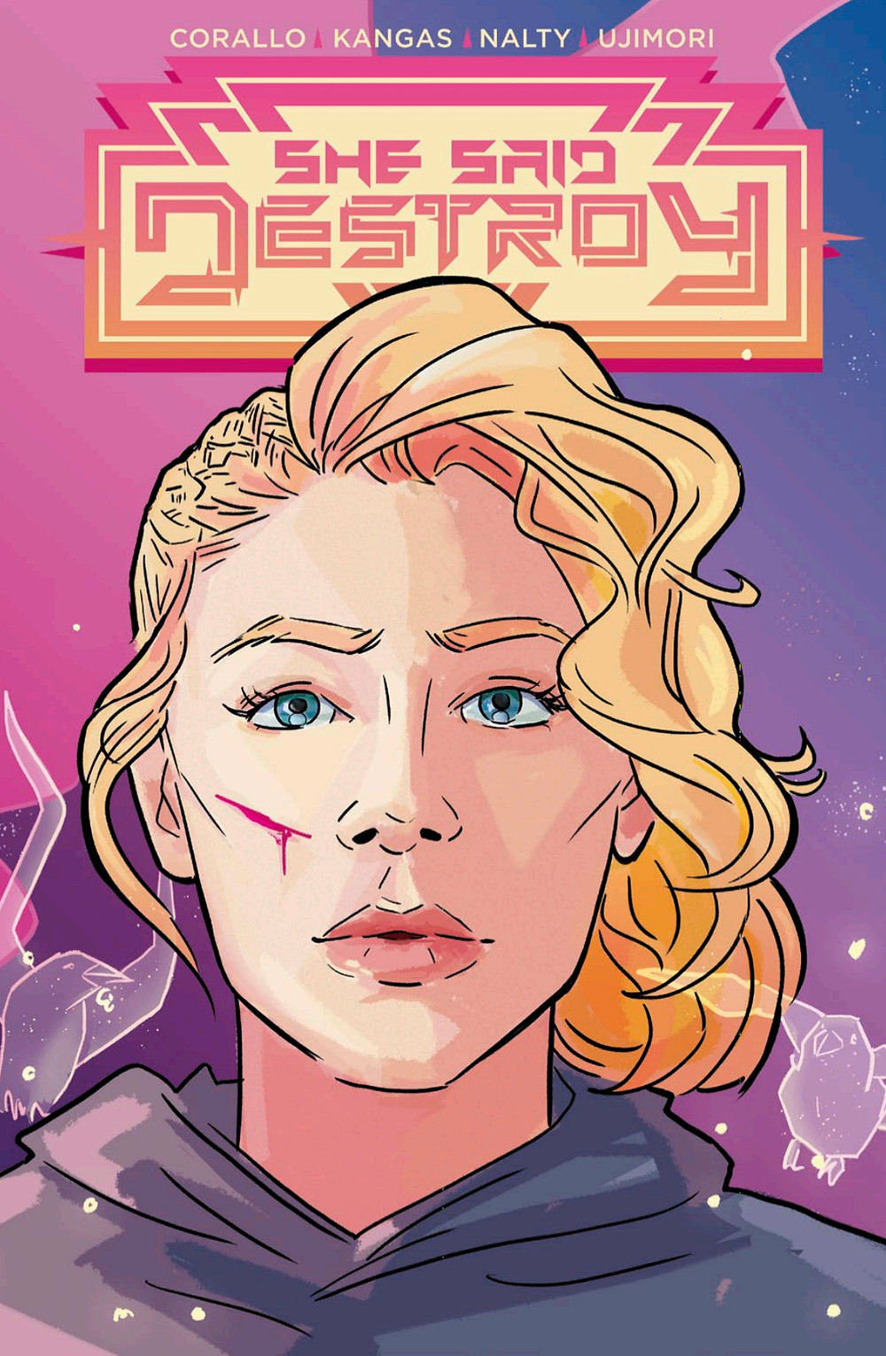 She Said Destroy, Issue #2, cover, Vault Comics, Corallo/Kangas