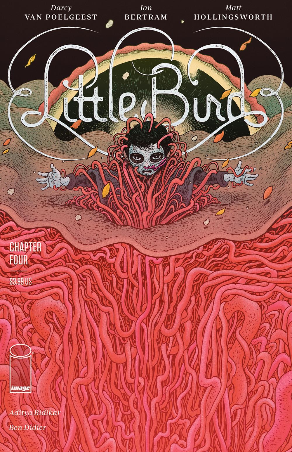 Little Bird, issue #4, cover, Image Comics, Van Poelgeest/Bertram