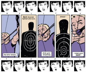 Hawkeye #14, page 12, Marvel Comics, Fraction/Aja