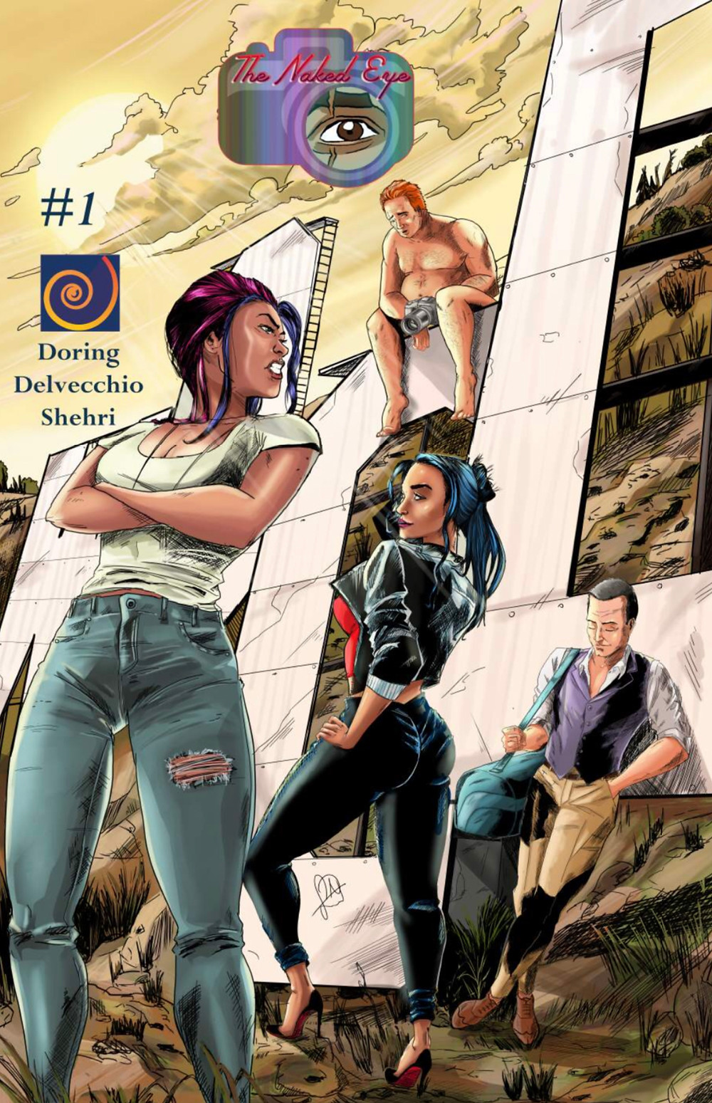 The Naked Eye, issue #1, cover, self-published, Doring/Delvecchio