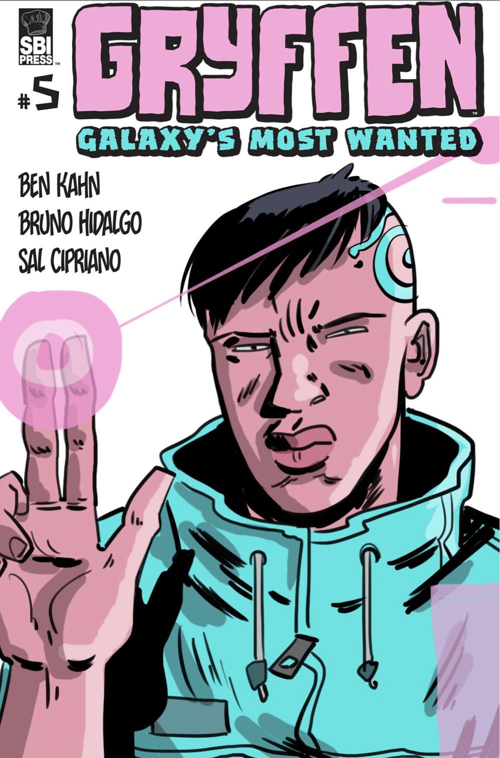Gryffen, issue #5, cover, SBI Press, Kahn/Hidalgo