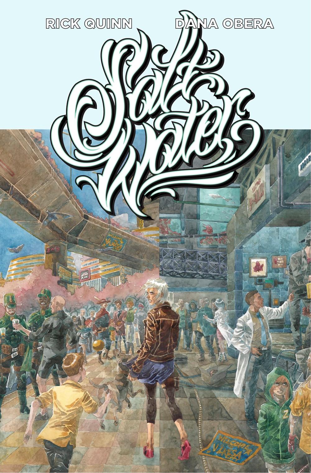 Saltwater, one-shot, cover, Aurora Comics, Quinn/Obera
