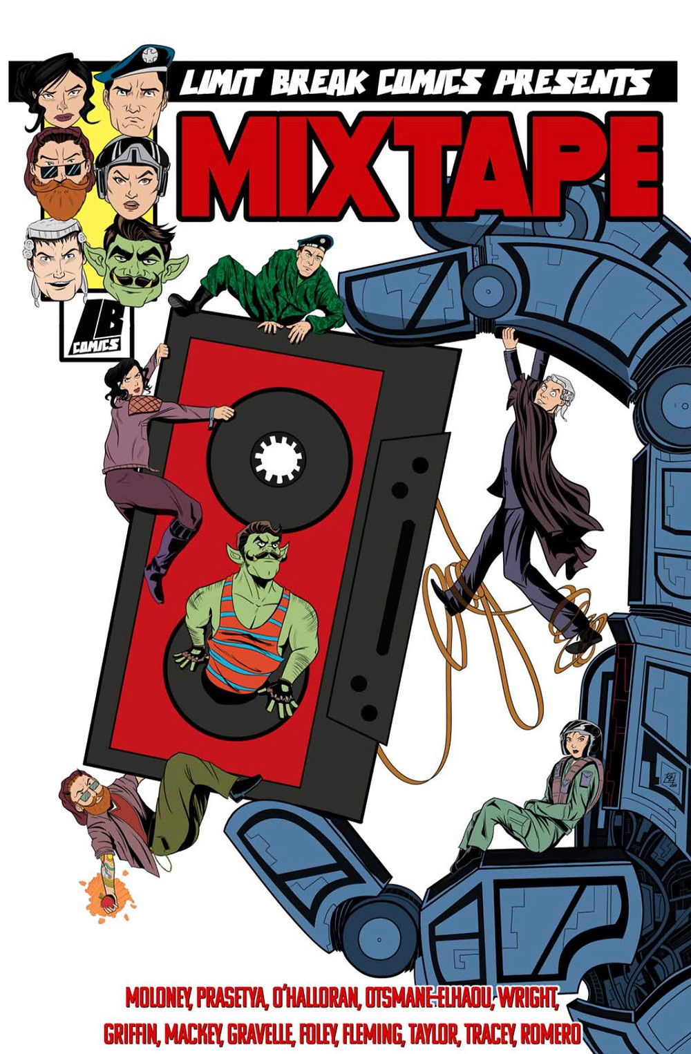 Mixtape, anthology, cover, Limit Break Comics, Moloney/various