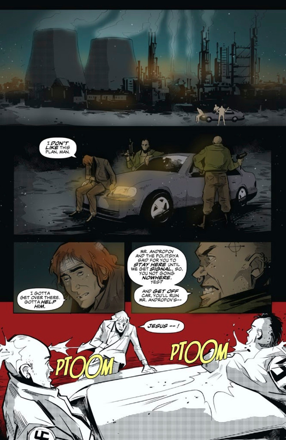 Red Winter, issue #4, page 3, Scout Comics, Gordon/Massaggia