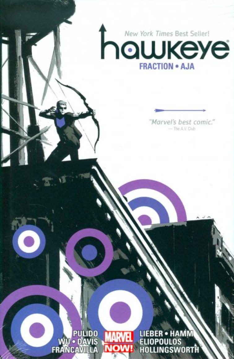 Hawkeye (Omnibus), cover, Marvel Comics, Fraction/Aja