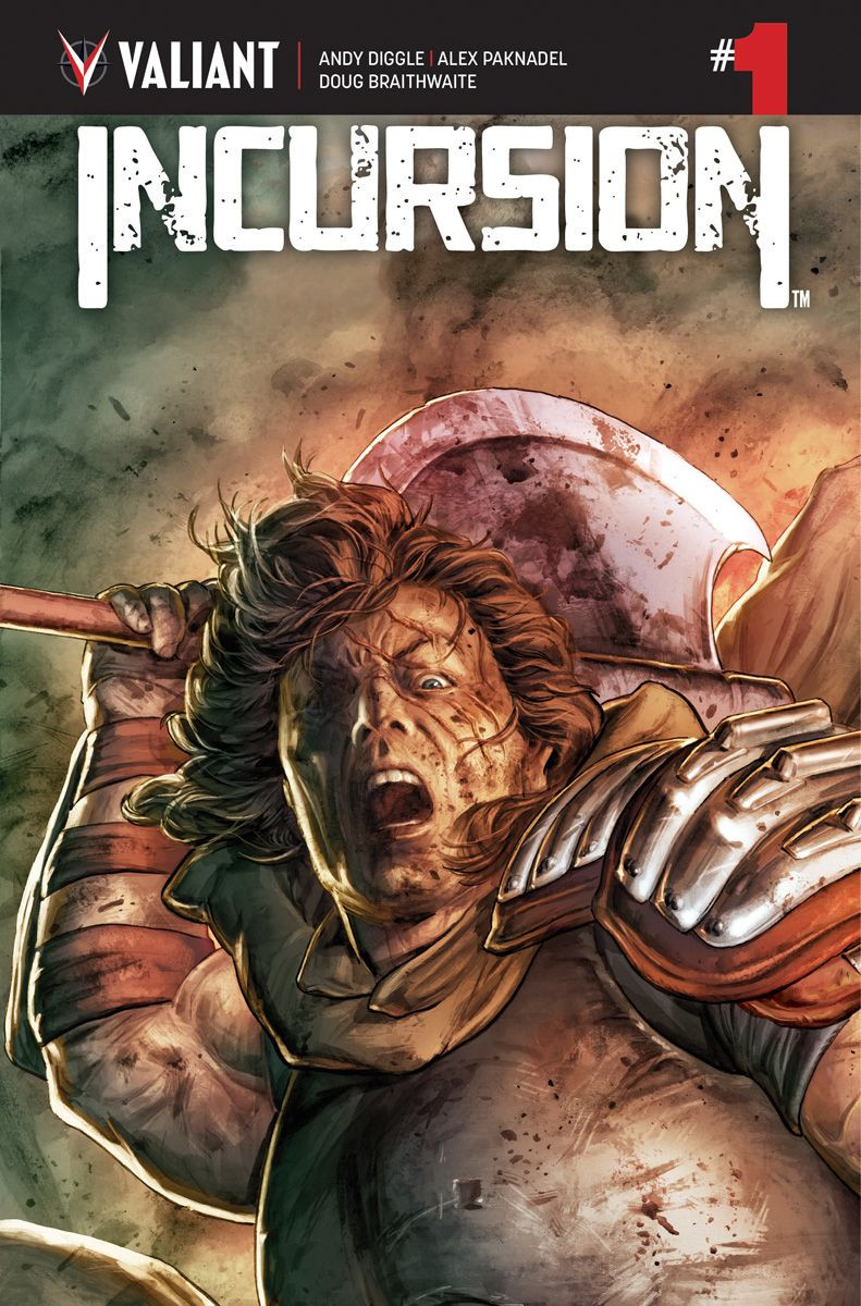 Incursion, Issue #1, cover, Valiant Comics, Diggle/Paknadel/Braithwaite