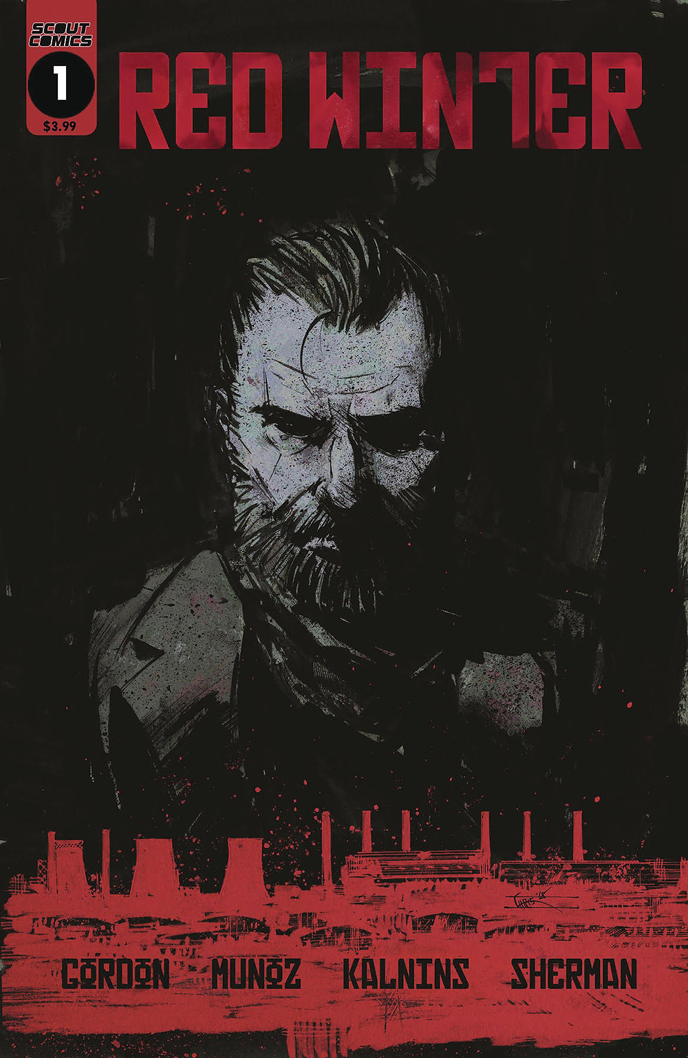 Red Winter, issue #1, cover by Chris Shehan, Scout Comics, Gordon/Munoz