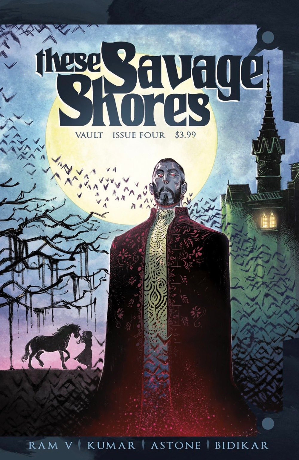 These Savage Shores, Issue #4, cover, Vault Comics, Ram V/Sumit Kumar