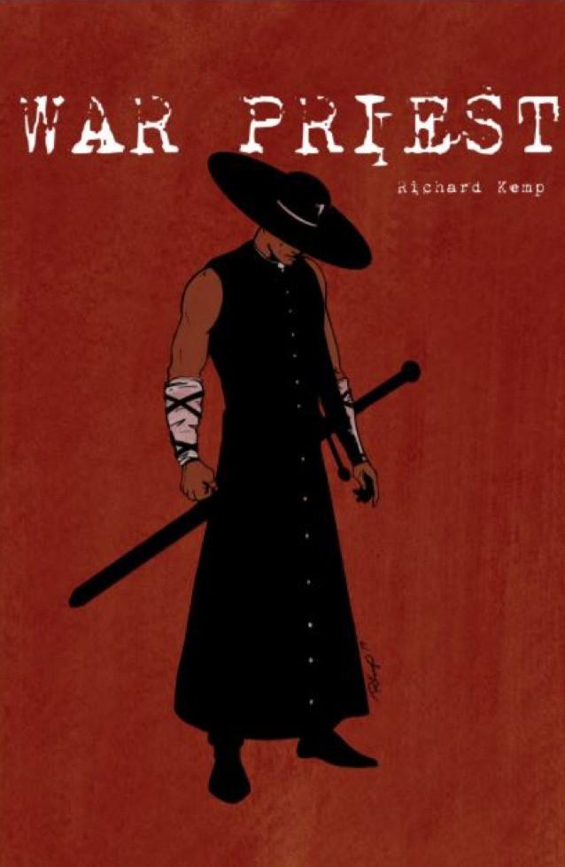 War Priest, OGN, cover, Ashcan Comics Pub, Kemp