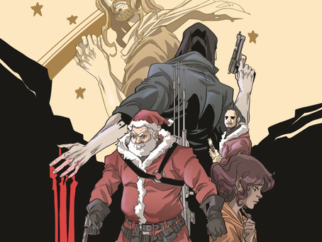 Top 6 Questions (and 1 Statement) Jim Stimpson Gets about Murder-Santa Comic, THE LIST