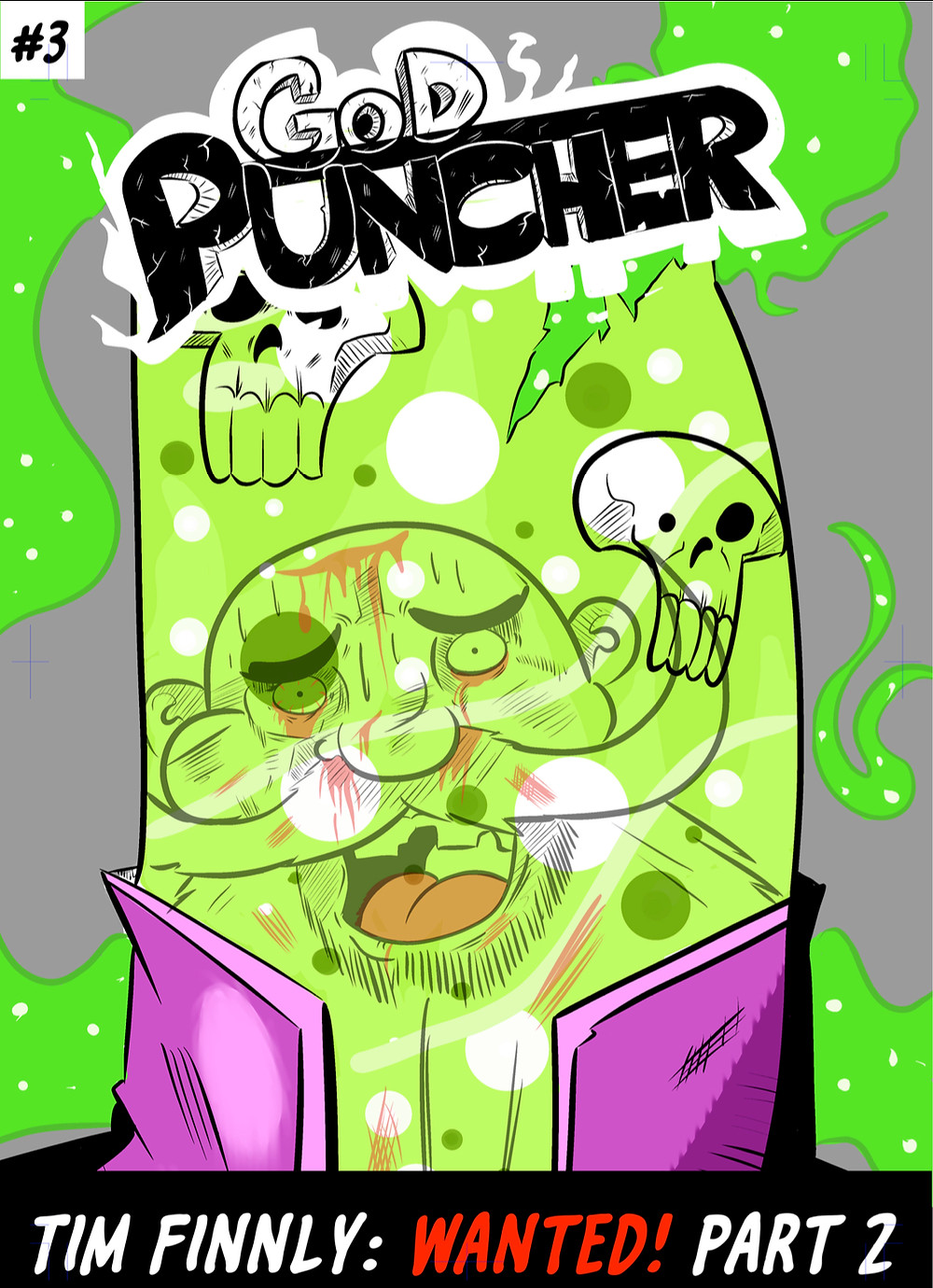God Puncher, issue #3, cover, self-published, Lane Lloyd