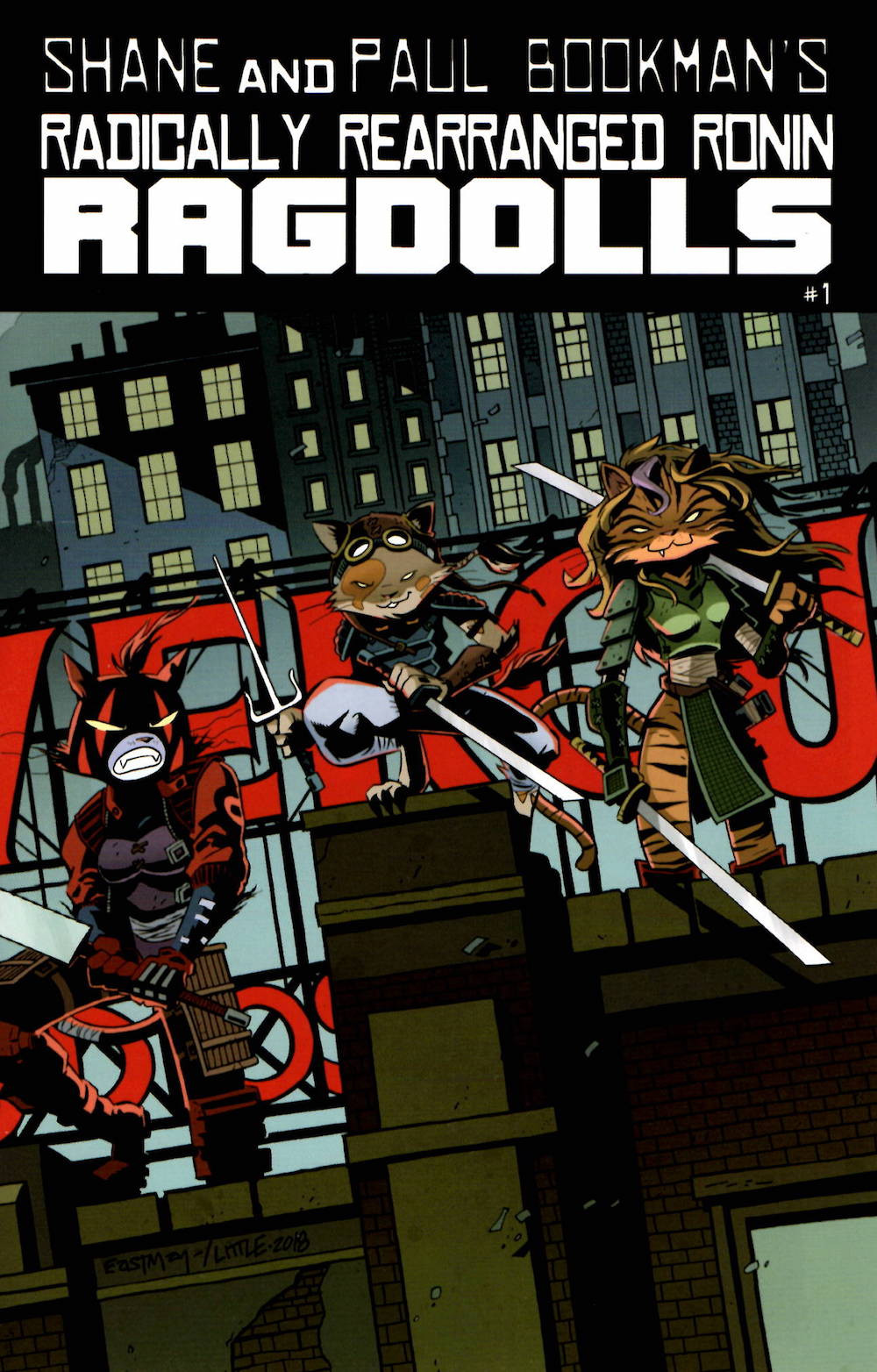 Radically Rearranged Ronin Ragdolls, issue #1, cover, self-published, Eastman/Avallone/Little