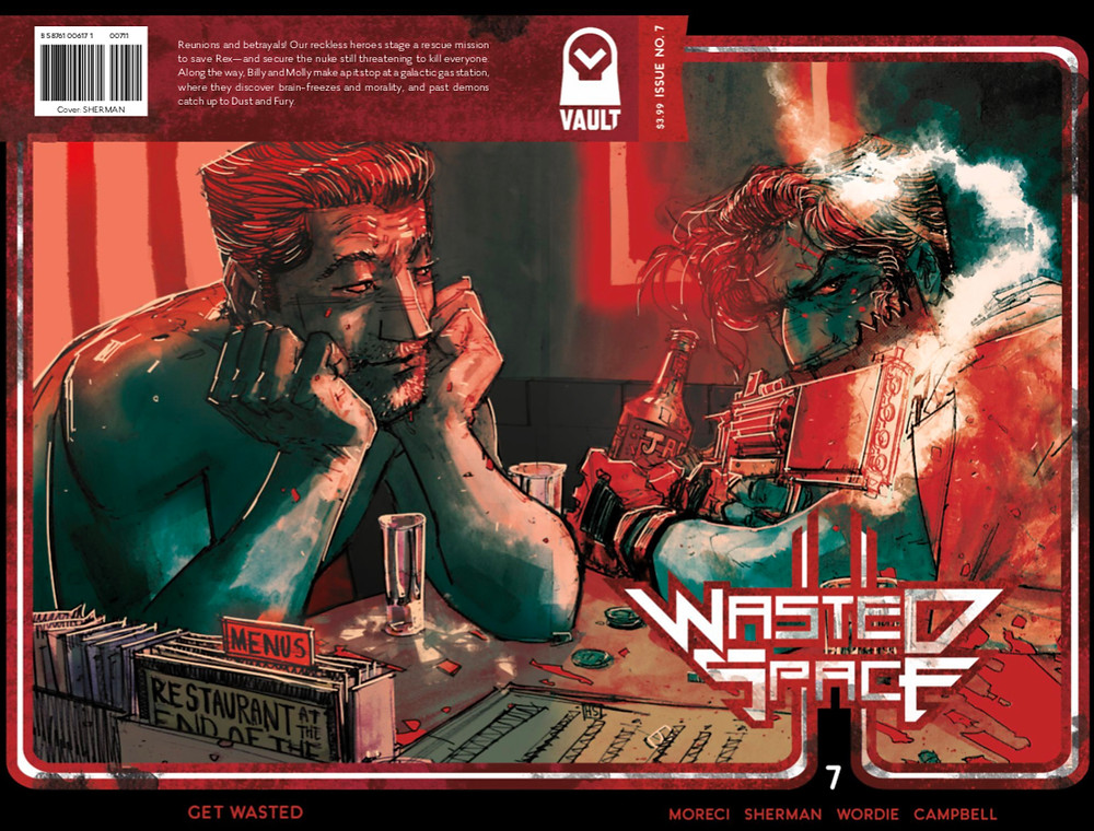 Wasted Space, issue #7, cover, Vault Comics, Moreci/Sherman