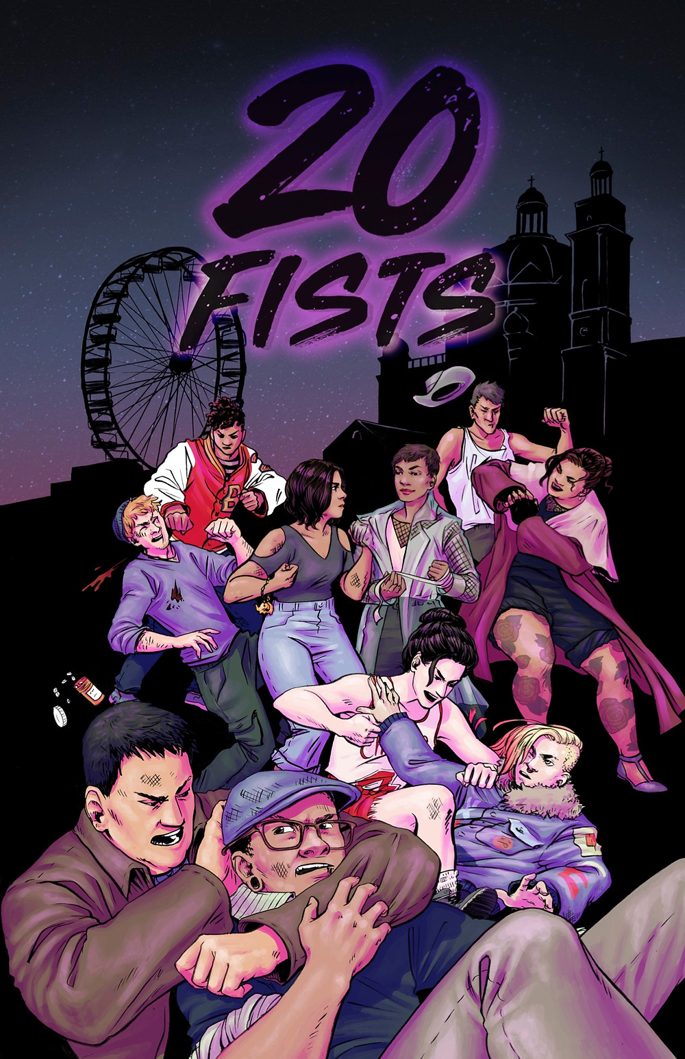 20 Fists #1, cover, self-published, White/Baumann