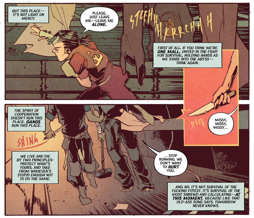 Mall, issue #1, page 5, Vault Comics, Moreci/Dauberman/Hartong